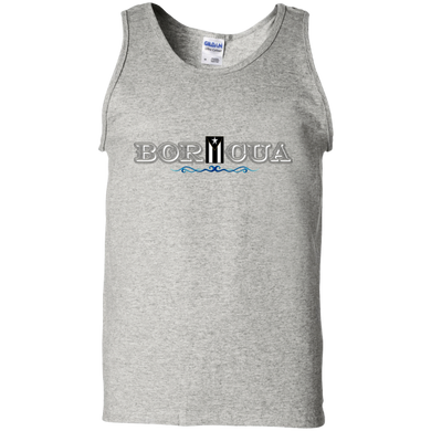 Black Flag Boricua 100% Cotton Tank Top