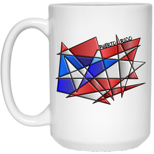 ABSTRACT PR 15 oz. White Mug