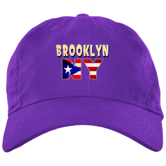 Brooklyn NY Brushed Twill  Dad Cap - Puerto Rican Pride
