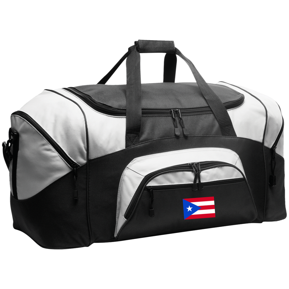 Sport Duffel Bag - Embroidered Puerto Rican Flag