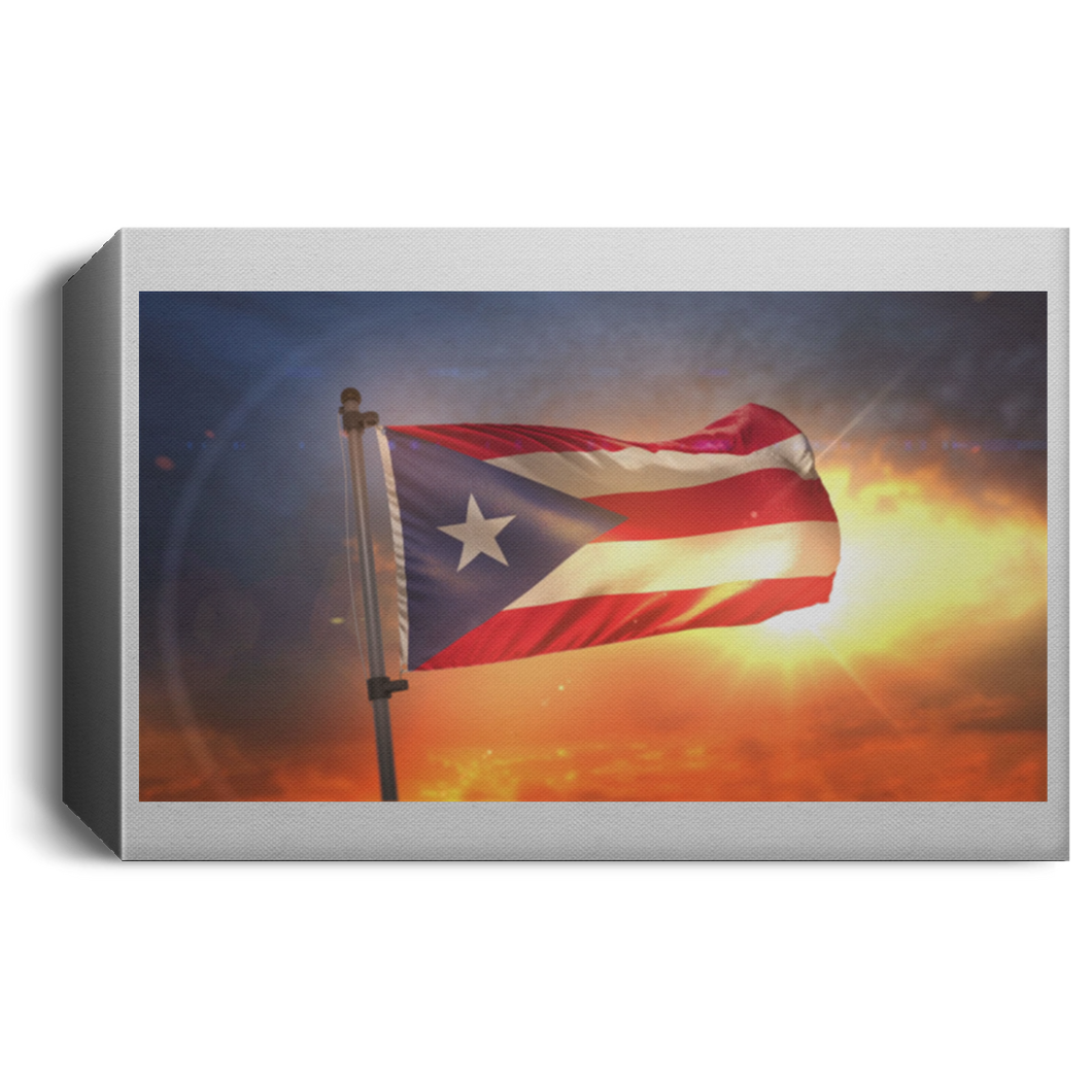 Flag Landscape Canvas 1.5in Frame