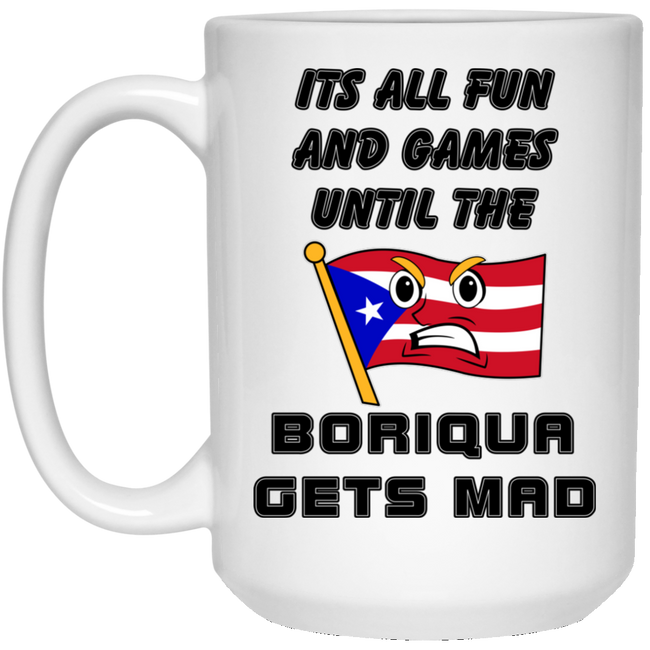 Fun and Games 15 oz. White Mug - Puerto Rican Pride