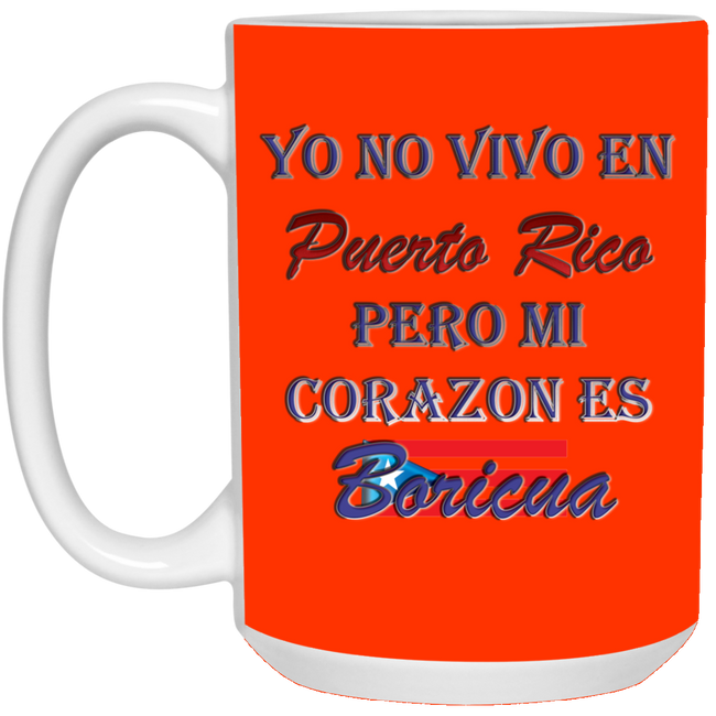 Corazon 15 oz. White Mug