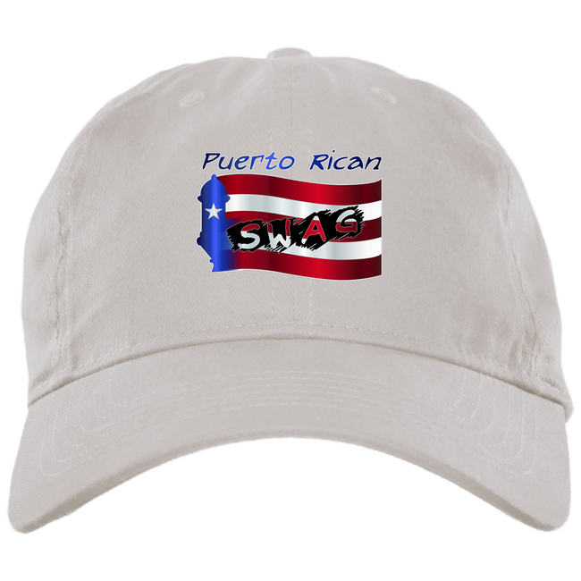 PR SWAG Brushed Twill Unstructured Dad Cap - Puerto Rican Pride
