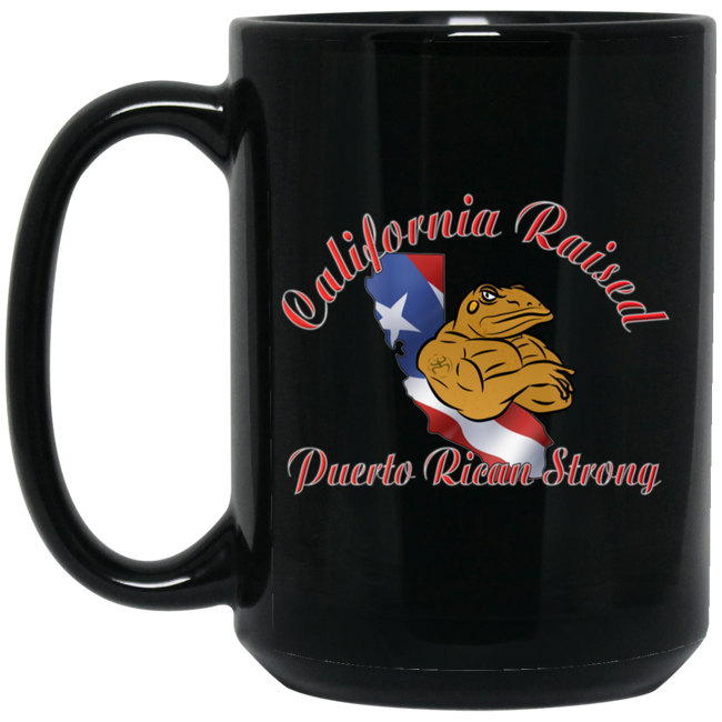 California Raised PR Strong 15OZ 15 oz. Black Mug