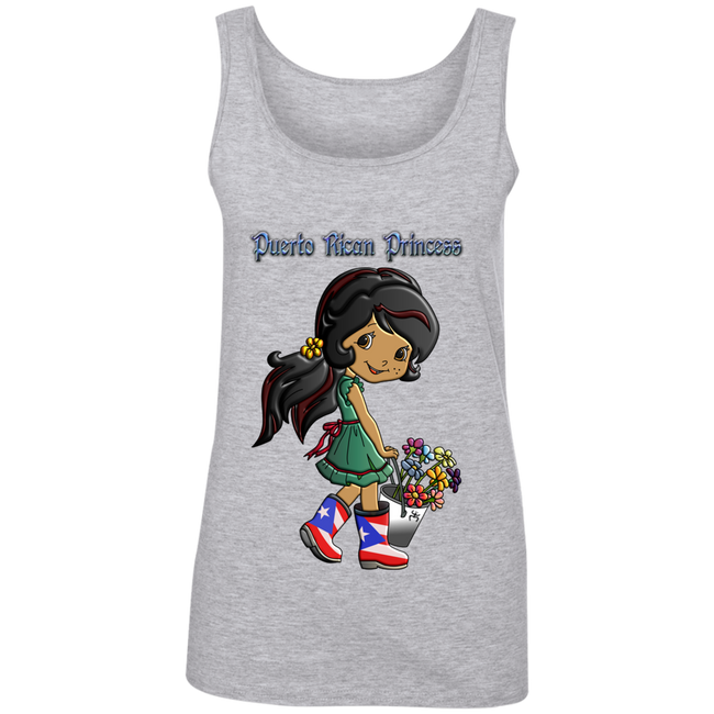 PR Princess Ladies' 100% Ringspun Cotton Tank Top