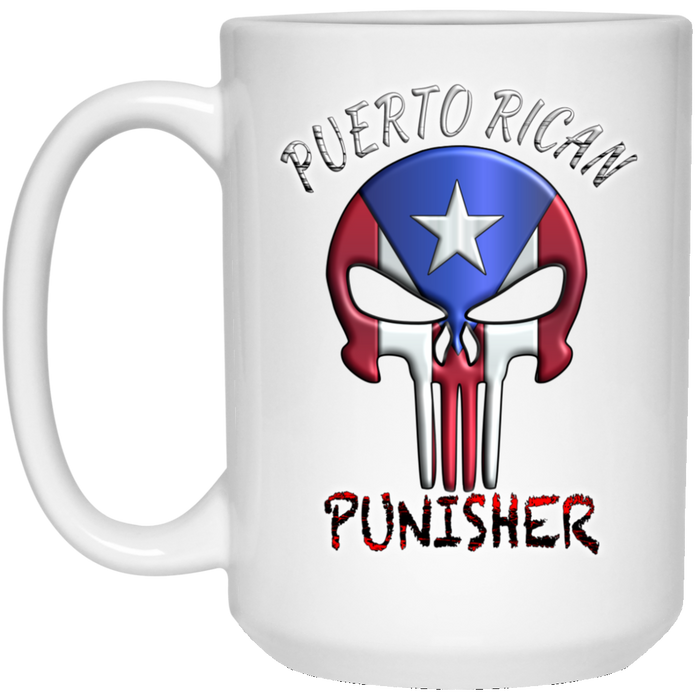 Punisher 15 oz. White Mug