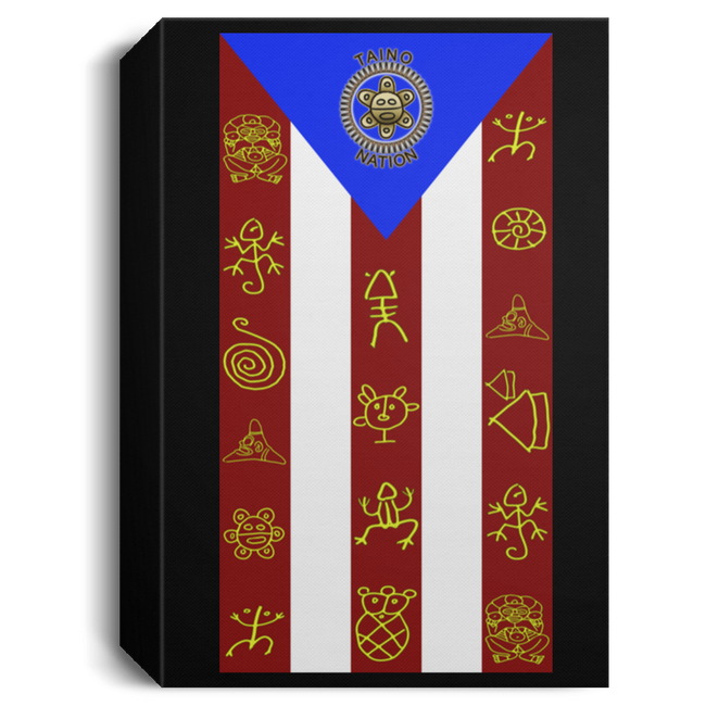 TAINO NATION FLAG Deluxe Portrait Canvas 1.5in Frame