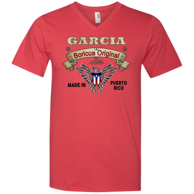 Garcia Boricua Original V-Neck T-Shirt