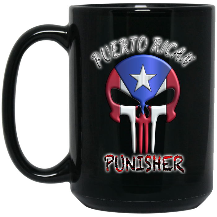 Punisher 15 oz. Black Mug