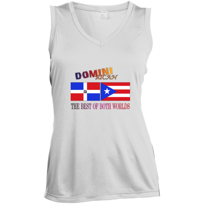 Domini Rican  Ladies' Sleeveless Moisture Absorbing V-Neck