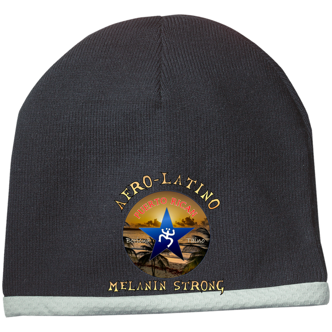 Afro-Latino Performance Knit Cap - Puerto Rican Pride