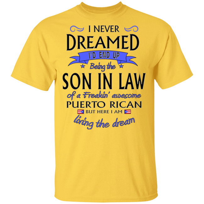 Son-In-Law of Awesome PR 5.3 oz. T-Shirt - Puerto Rican Pride
