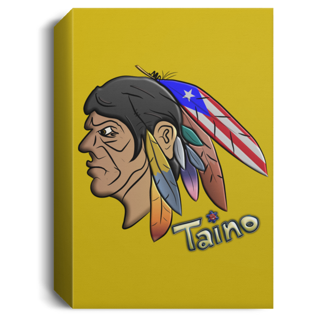 Taino Warrior Chief Deluxe Portrait Canvas 1.5in Frame