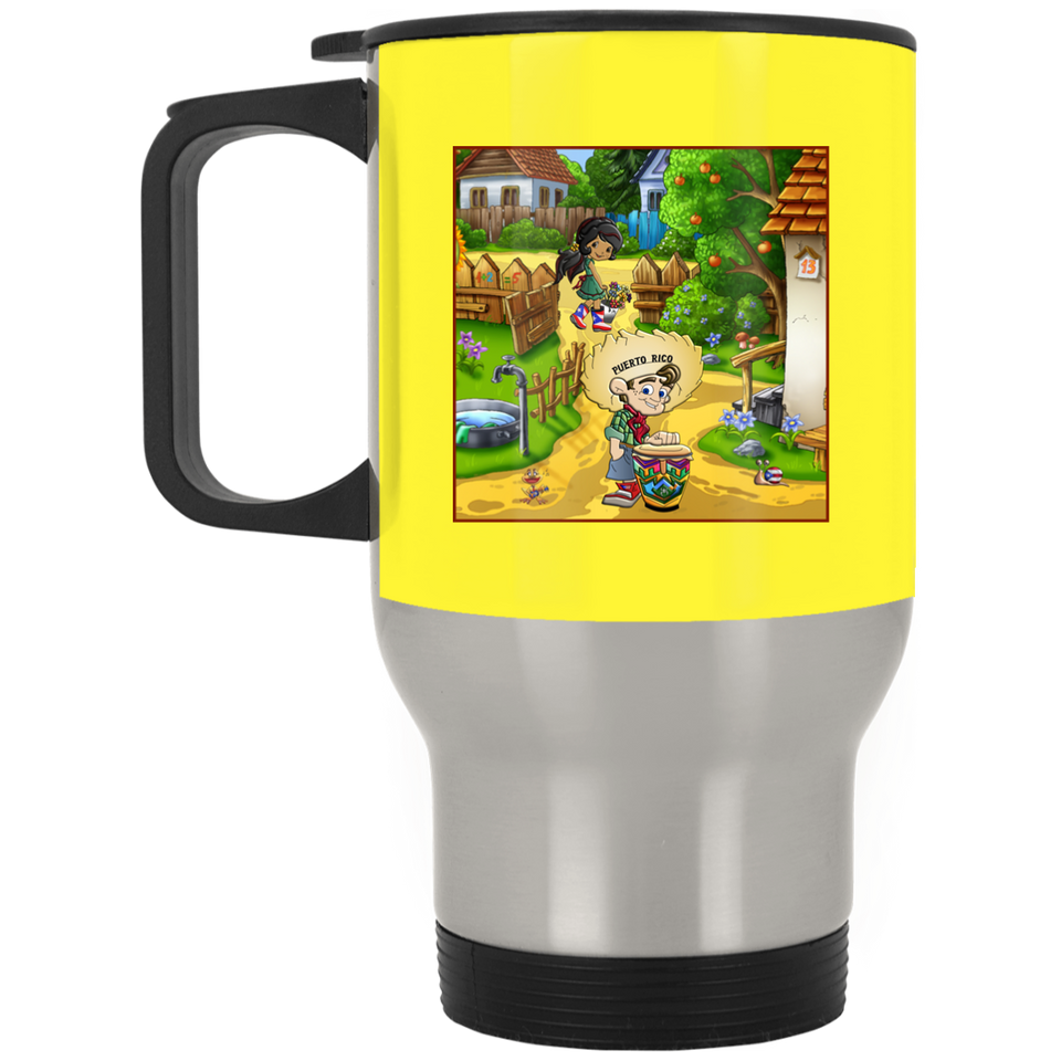 Cartoon Scene Stainless Travel Mug