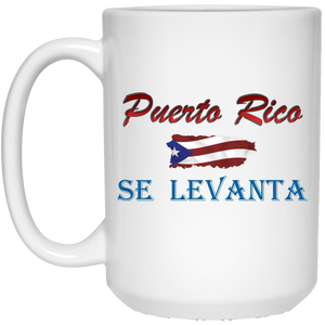 Se Levanta  15 oz. White Mug