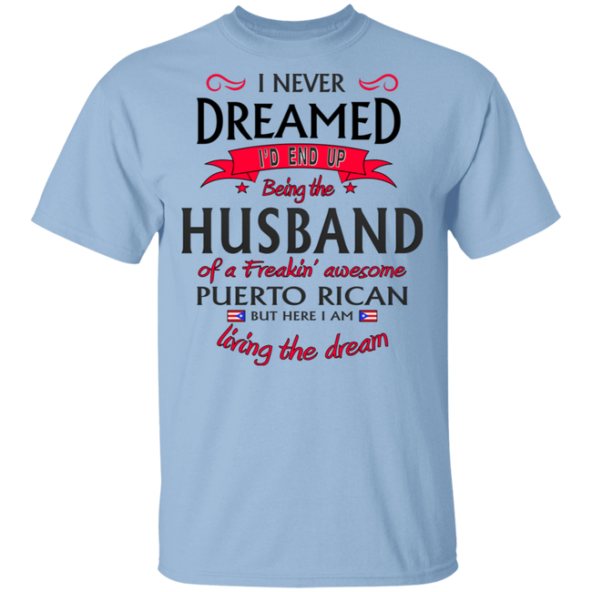 Husband of Awesome PR 5.3 oz. T-Shirt - Puerto Rican Pride