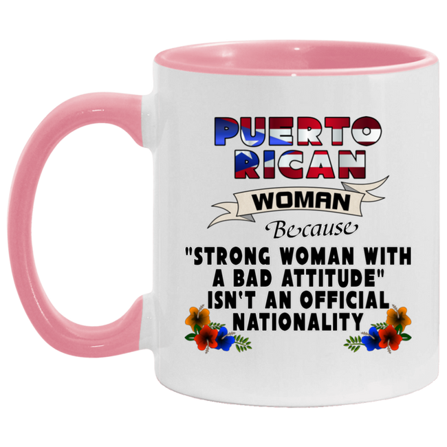 STRONG PR WOMAN 11OZ Accent Mug - Puerto Rican Pride