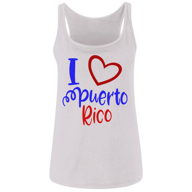 I Heart PR  Ladies' Relaxed Jersey Tank