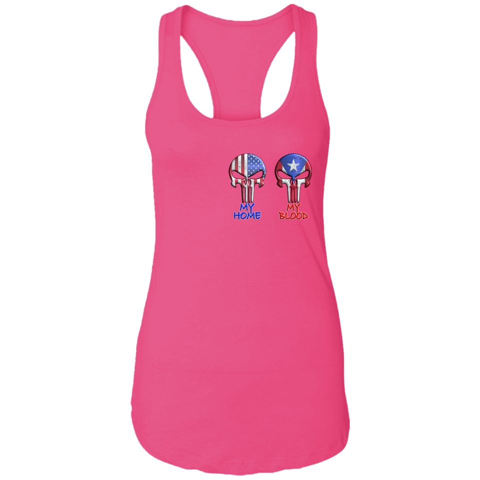 My Home My Blood Ladies Ideal Racerback Tank
