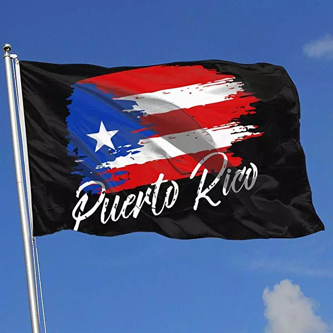 PR Flag - Grunge Design Super Polyester Flag 3x5 Foot
