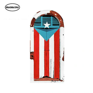 Famous Door Flag - Car Decal