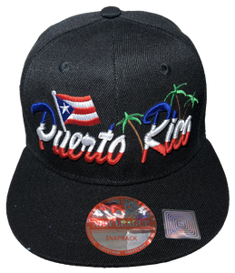 Puerto Rico Flag/Palm Baseball Hat
