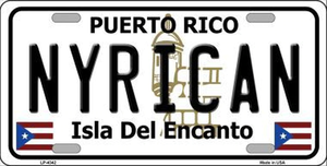 NYRICAN License Plate