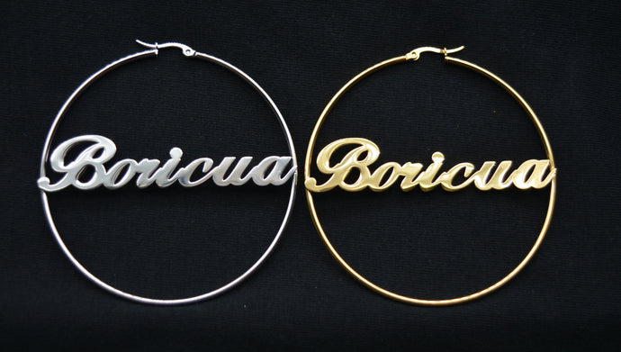 Jumbo Boricua Earrings