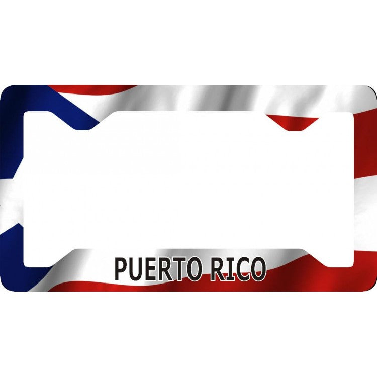 Flat Style PUERTO RICO Metal License Plate Frame