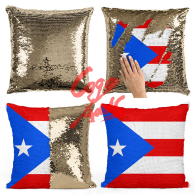 Pillow Mermaid Sequin - PR Flag