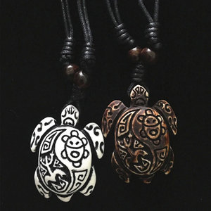 Tribal Series Taino Design Turtle Necklace