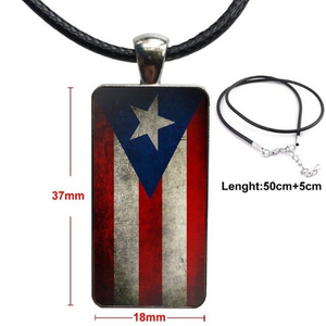 "Distressed Flag 19.7"" Rope Necklace/Choker"