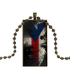 Men's Ball Chain Eagle Flag Necklace