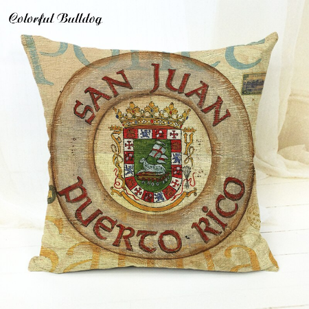 Puerto Rico Coat of Arms Pillow cover