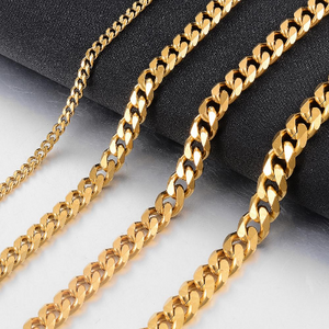 8 or 6MM Stainless Steel Gold Cuban Chain (Waterproof) Necklace - High Quality