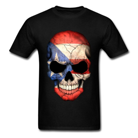 Skull Flag Shirt - Black