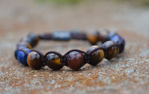 Tiger Eye Trio Stone Bracelet
