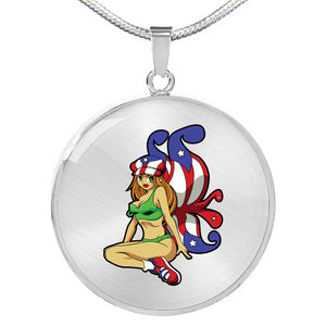 Boricua Fairy Necklace