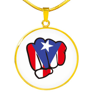 PR Power Fist Necklace