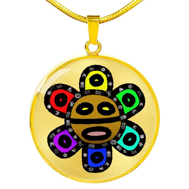 Colorful Taino Sun God Necklace