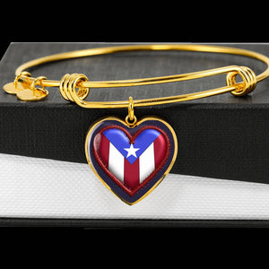 Plasma Heart Bangle