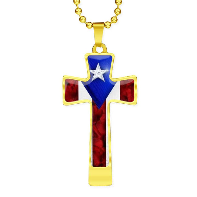 God and Country Ball Chain Necklace