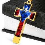 God and Country Fire Ball-Chain Necklace