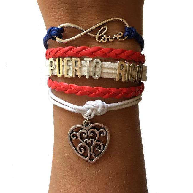 Bracelet - Infinity Love For Puerto Rico