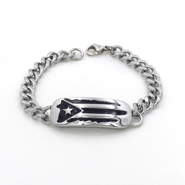 Bracelet - Stainless Steel Flag