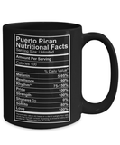 Coffee Mug - Puerto Rican Nutritional Facts 15oz