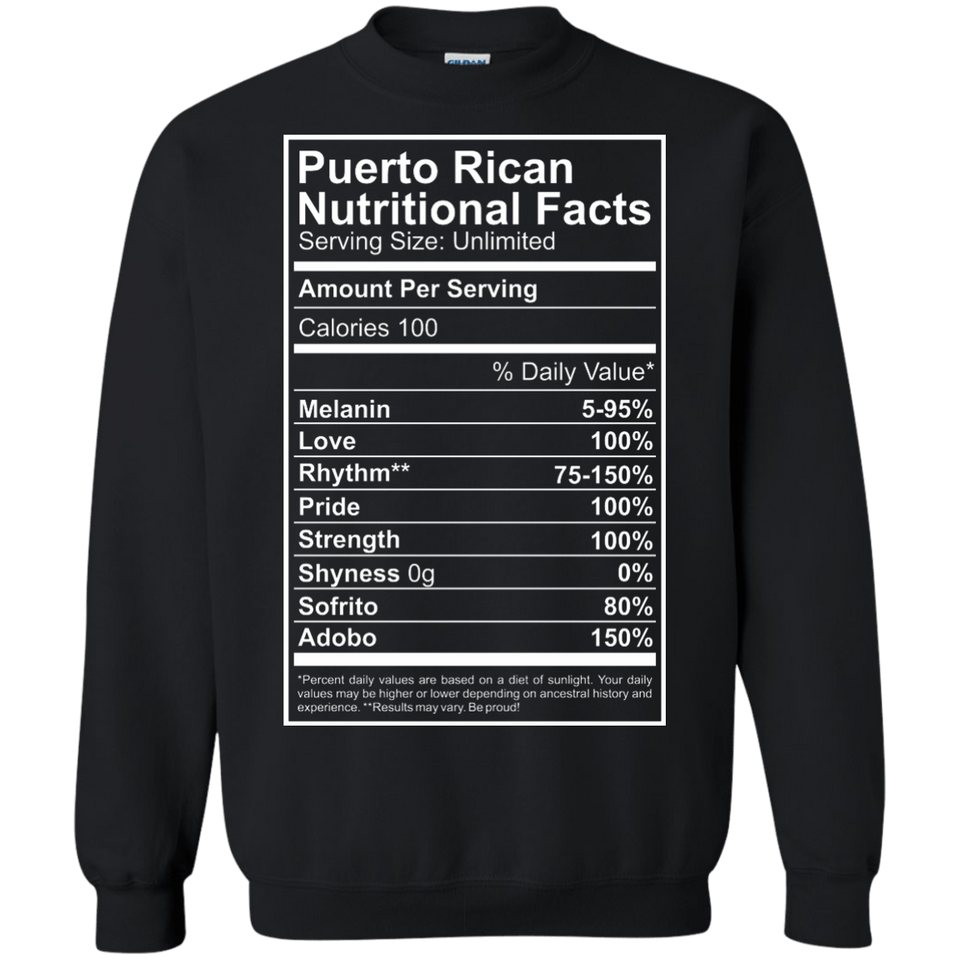 Crewneck Sweatshirt - Nutritional Facts Sweatshirt