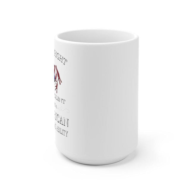 Right To Remain Silent, No Ability - White Ceramic Mug - Puerto Rican Pride