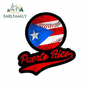 Puerto Rico Baseball Decal
